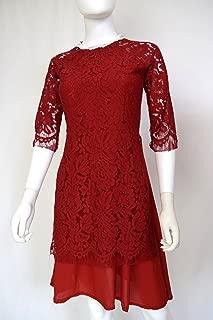 195designs Áo Dài Cách Tân Ren Đỏ Hat TRAI   Red AO DAI Modern Pearl Set