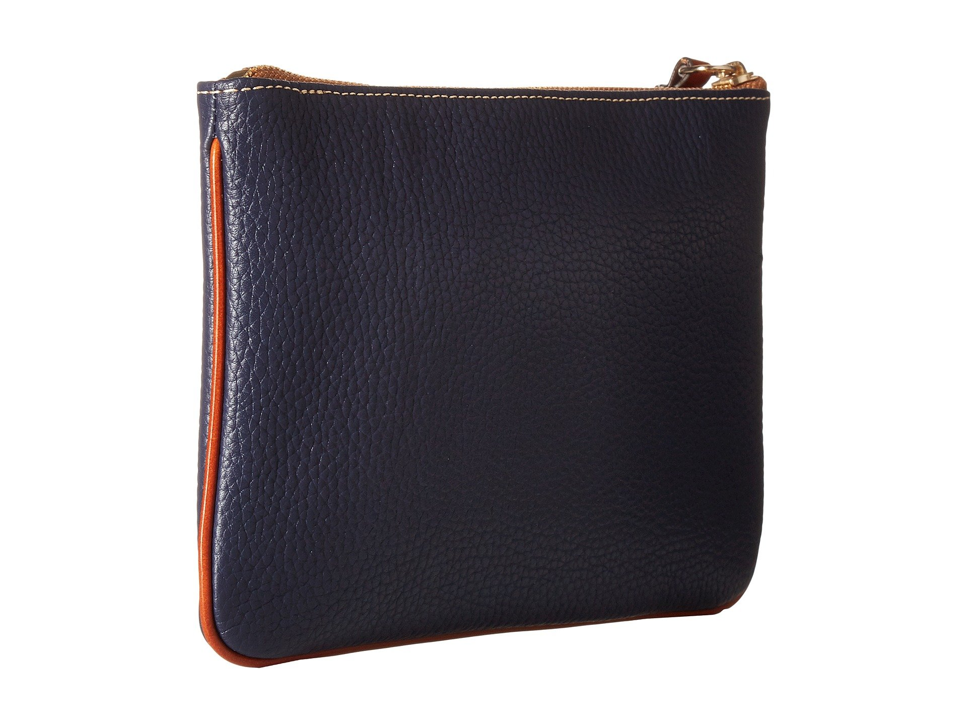 Pouch Midnight Bourke Carrington Pebble amp; Trim tan Dooney Blue ZwXqaI5n