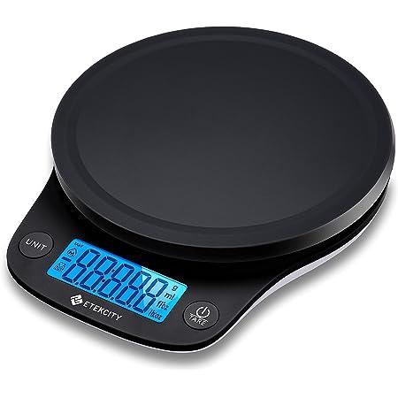 Etekcity Balance de cuisine de 0,1 g, poids numérique en grammes et Oz pour la cuisine, la pâtisserie, la préparation des repas et le régime, 5 kg, noir
