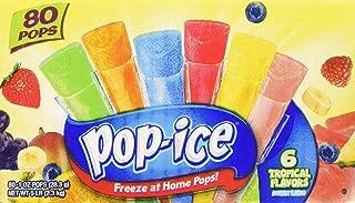 Pop-Ice Freezer Pops, Fat Free Ice Pops, Tropical Flavors (80 - 1 oz pops)