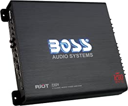 BOSS Audio Systems R3004 - Riot 1200 Watt, 4 Channel, 2 4 Ohm Stable Class AB, Full Range, Bridgeable, Mosfet Car Amplifier with Remote Subwoofer Control
