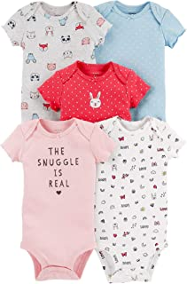 Baby Girls 5-Pack Original Short Sleeve Bodysuits (Snuggle is Real)