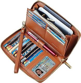 Womens Wallet Genuine Leather RFID Blocking Purse Credit Card Clutch