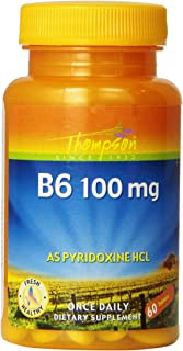 Thompson B-6 Tablets, 100 Mg, 60 Count (Pack of 3)