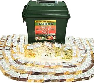 Heritage Survival Seed Vault 25 Year Storage Life. بذر گیاهان دارویی و بذر گیاهان دارویی 85٪ جوانه زنی برای آمادگی روز رستاخیز صلح ذهن. تجهیزات اورژانس در جعبه مهمات .30 کال.