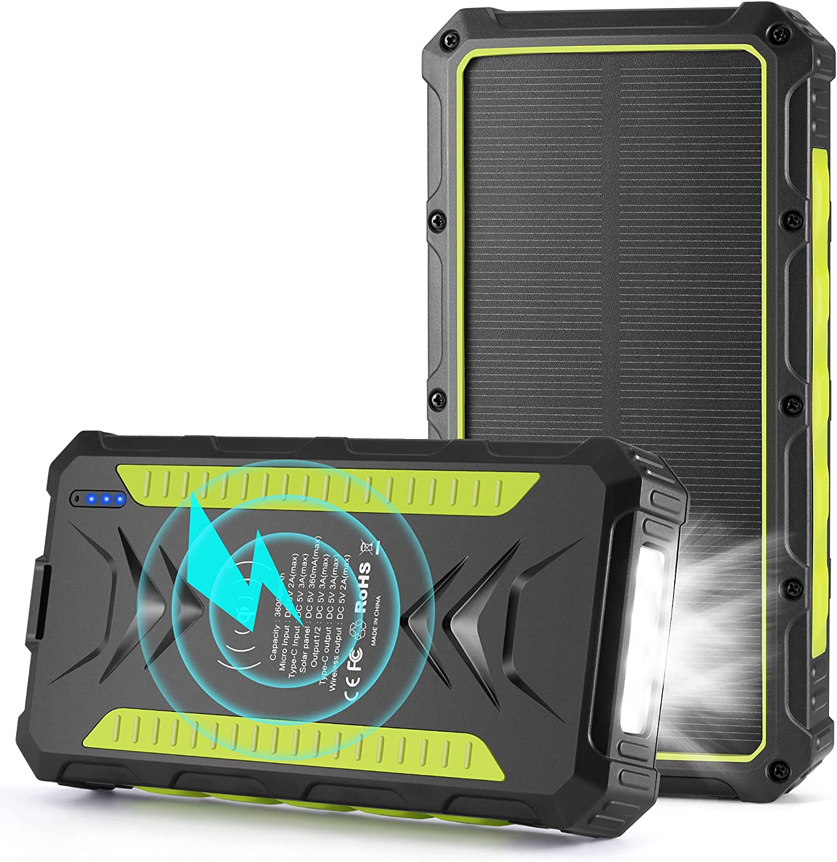 Oimye 36000mAh Wireless Solar Power Bank $23.99 Coupon