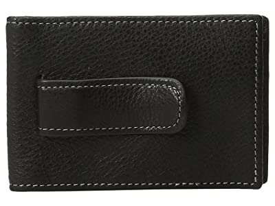 Johnston & Murphy Two Fold Money Clip (Black 1) Bi-fold Wallet