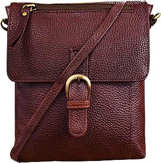 ABYS Dark Brown Genuine Leather Sling Bag||Cross-Body Bags|| Messenger Bag For Men And Women