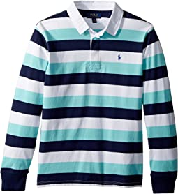 Polo Ralph Lauren Kids Striped Cotton Jersey Rugby (Big Kids)