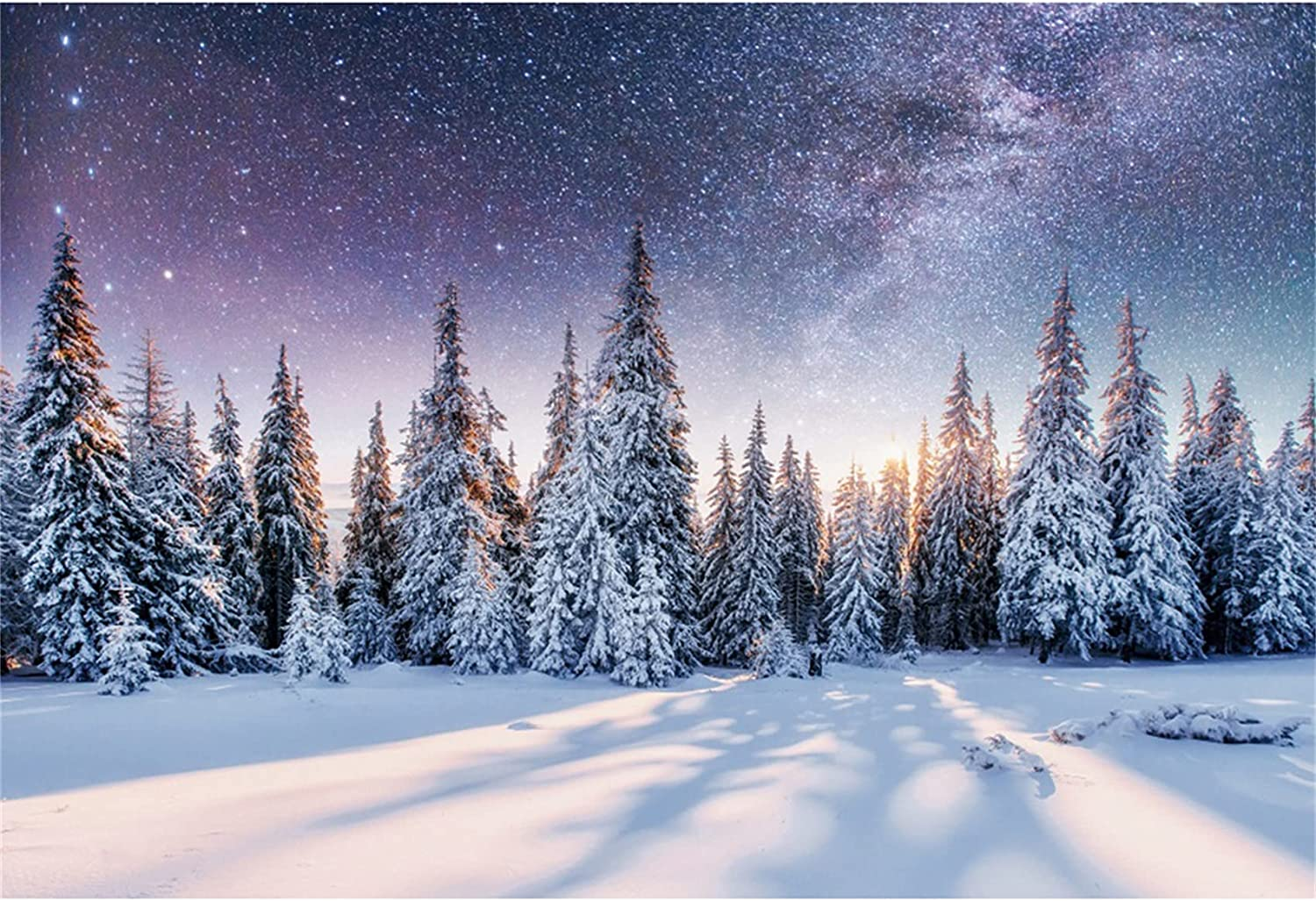 Popular brand Yeele Snowfield Forest Backdrop for 12x8ft Sta Photo Vinyl Shoot Import