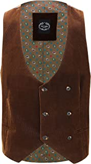 Xposed Mens Soft Corduroy Blazer Coat Vintage Retro Tailored Suit Jacket or Waistcoat