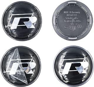 HeyUK 65mm 4pcs Square R Wheel Center Hub Caps for R-line Golf Polo R64 R32