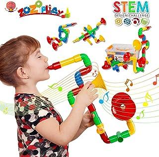 ZoZoplay STEM Toys Tube Locks 72 Piece Tubular Pipes & Spouts & Joints &..