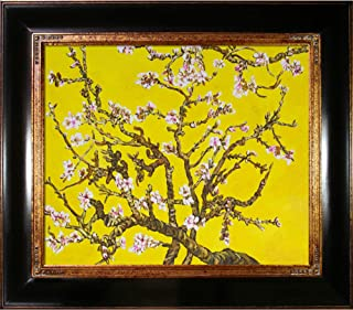La Pastiche VG2347-FR-240G20X24 Framed Oil Painting Branches of An Almond Tree in Blossom, Citrine Yellow Hand Painted Ori...