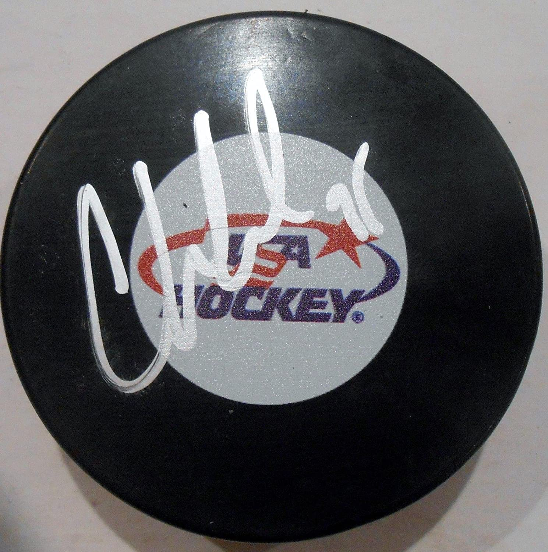Cory Schneider Autographed Puck  Team USA w COA  Autographed NHL Pucks