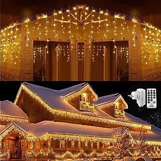 LED Lichterkette Weihnachtsbeleuchtung NEXVIN 25m 200 LED Lichterkette Weihnachtsbaum Bunt Wasserdicht mit 8 Modi /& Timer f/ür Weihnachten Innen Au/ßen Deko