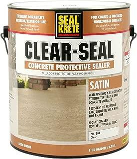 Seal-Krete 604001 Clear-Seal Satin Concrete Protective Sealer, Gallon, Clear