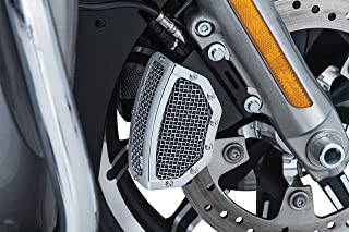 Kuryakyn 6538 Motorcycle Accent Accessory: Mesh Front Caliper Covers for 2008-19 Harley-Davidson Touring Motorcycles, Chrome, 1 Pair