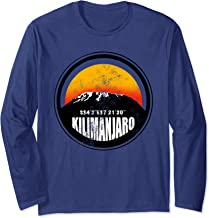 Kilimanjaro Tanzania Silhouette Graphic & Coordinate Climber Long Sleeve T-Shirt