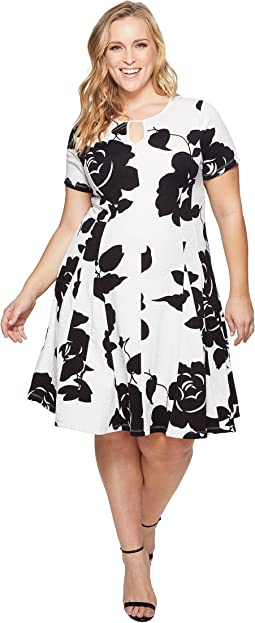 KARI LYN - Plus Size Mackenzie Keyhole Dress