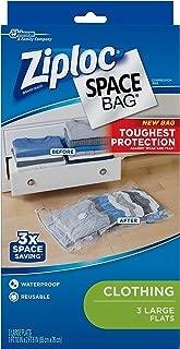 Ziploc Space Bag, Flat, Large, 3 Count