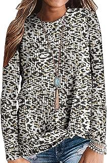SAMPEEL Womens Waffle Knit Twist Knot Tops Fall Winter Lightweight Sweaters