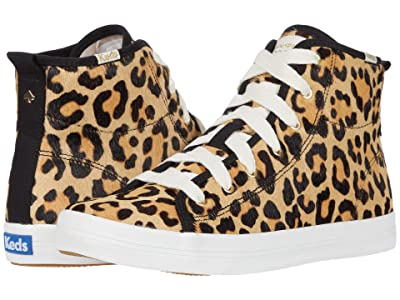 Keds x kate spade new york Kickstart Hi Leopard (Tan Multi Haircalf) Women
