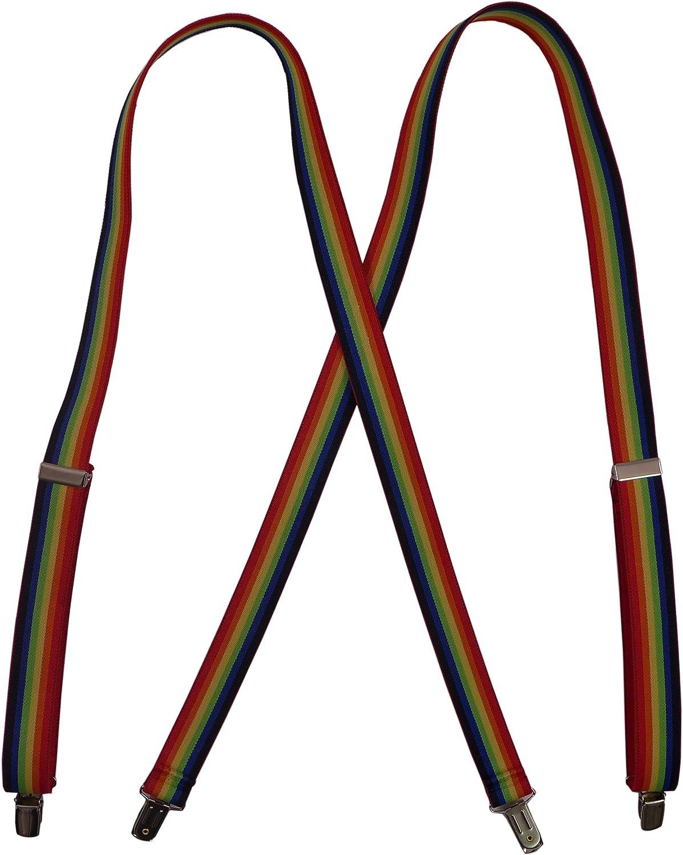 Suspender Factory Men's Jumbo Clip Suspenders (1x48, Rainbow)