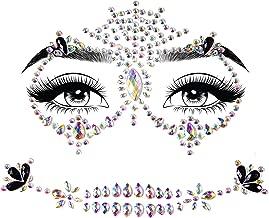 Leg Avenue Women's Costume Crystal Rhinestone Rave Face Jewelry Adhesive