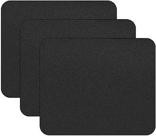 JIKIOU 3 Pack Comfortable Mouse Pad, Premium-Textured Computer Mouse Mat, Non-Slip Rubber Base Mousepad for Laptop, Comput...