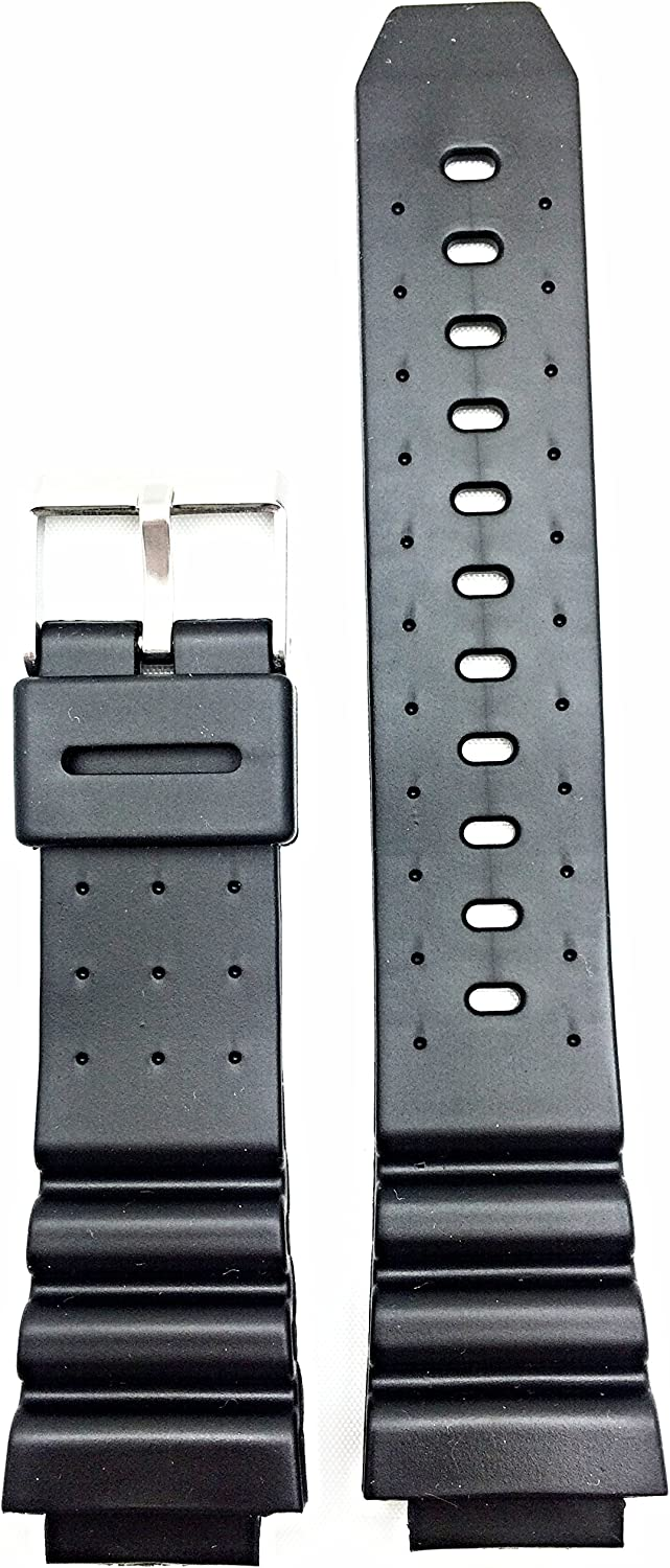 16mm Black Rubber Watch Band and Durable Classic - New popularity Flexibl Comfortable