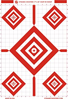 Dynamic Shooters 17x25 Inch Sight in Paper Shooting Range Targets- (50 Pack) for Firearms, Guns, Rifle, Pistol, BB Guns, A...
