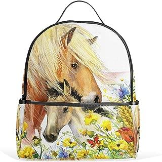 JSTEL Kids Backpack Children's Day Gift Horse School Backpacks for Boys Girls Bookbags Travel Laptop Bags