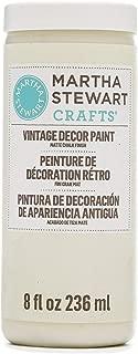 Martha Stewart Crafts 33532 Martha Stewart Vintage Decor Matte Chalk Linen, 8 oz Paint
