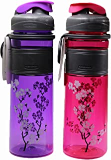 Rubbermaid Screen Print Cherry Blossoms Wild Cherry 20 Ounce Chug Bottle, Colors May Vary (Pack of 3)