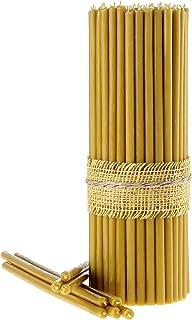 Danilovo Ritual Kerzen 100 % Bienenwachs Gelb - Orthodoxe Kerzen für Gebet Tischdeko Hochzeit - Ungiftig, Ruß - Tropffrei, Nachhaltige Produkte, N20, Höhe: 30,5 cm, Durchmesser 9,6 mm 30 stück - 600 g