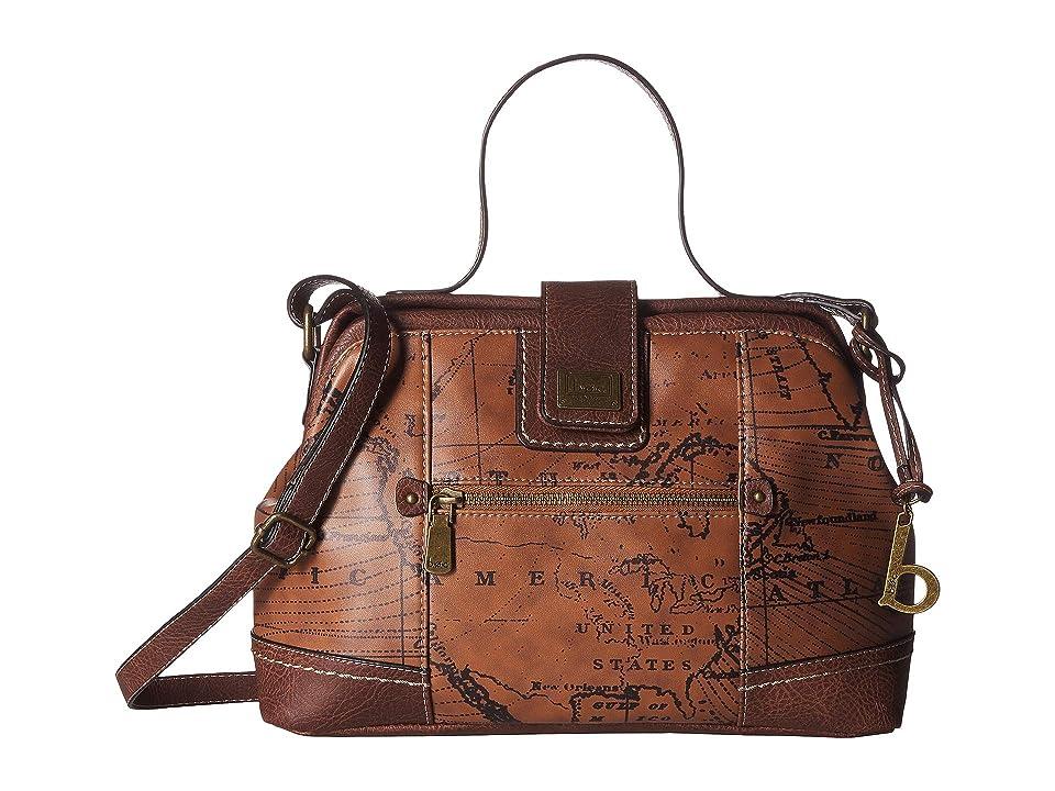 b.o.c. Voyage Large Frame Satchel (Dark Saddle/Chocolate) Handbags, Brown