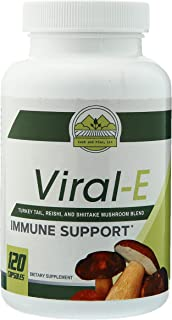 Cash and Finn - Viral-E Multi Mushroom Capsules Immune System Support with Turkey Tails, Reishi, and Shiitake 120 Count
