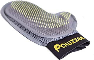 Pet Grooming Supplies Brush Glove For A Gentle Massage & Deshedding Loose Hair Remover - Collies Retrievers Sheep Breeds & Dogs With Long Thick Hair by PAWZZEE + FREE Gift (Dog Whistle)