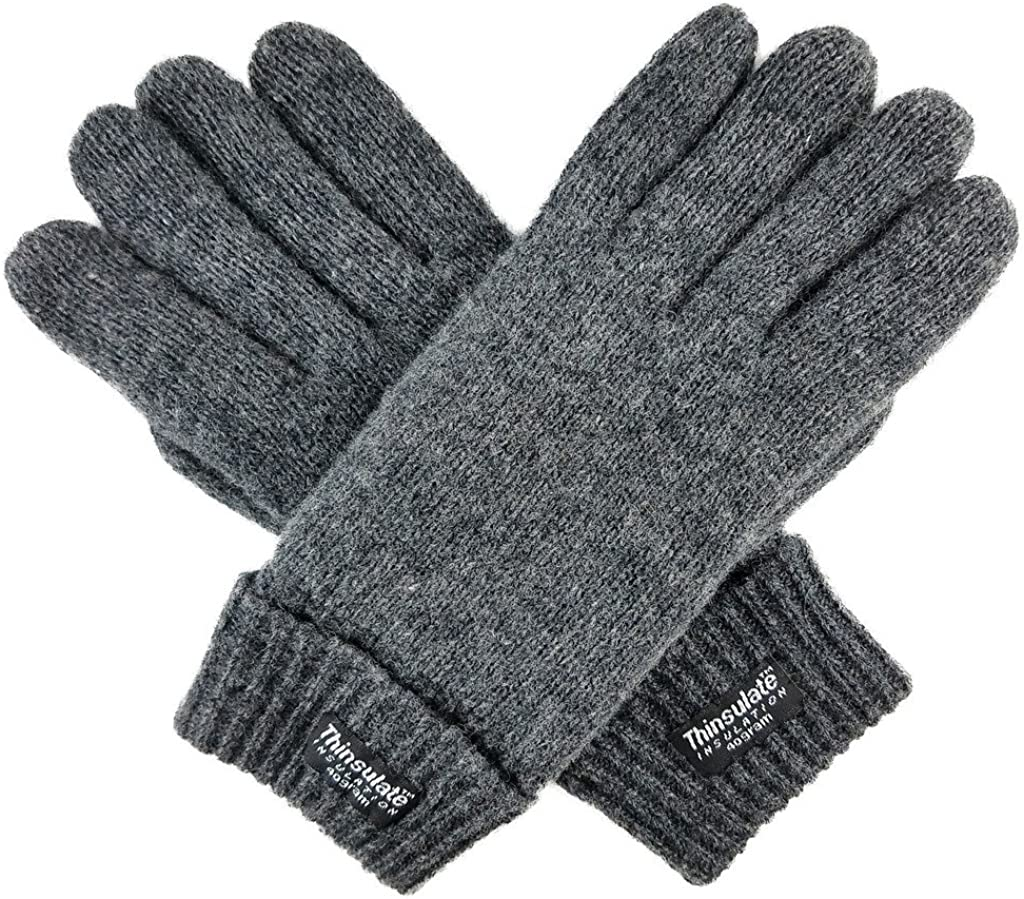 Bruceriver Ladie's Wool Knit Gloves with Thinsulate Lining