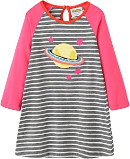 Toddler Girls Cotton Party Casual Striped Longsleeve Dresses