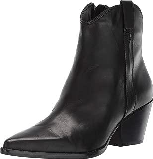 Dolce Vita Women's Serra Ankle Boot Black Leather 8.5 M US