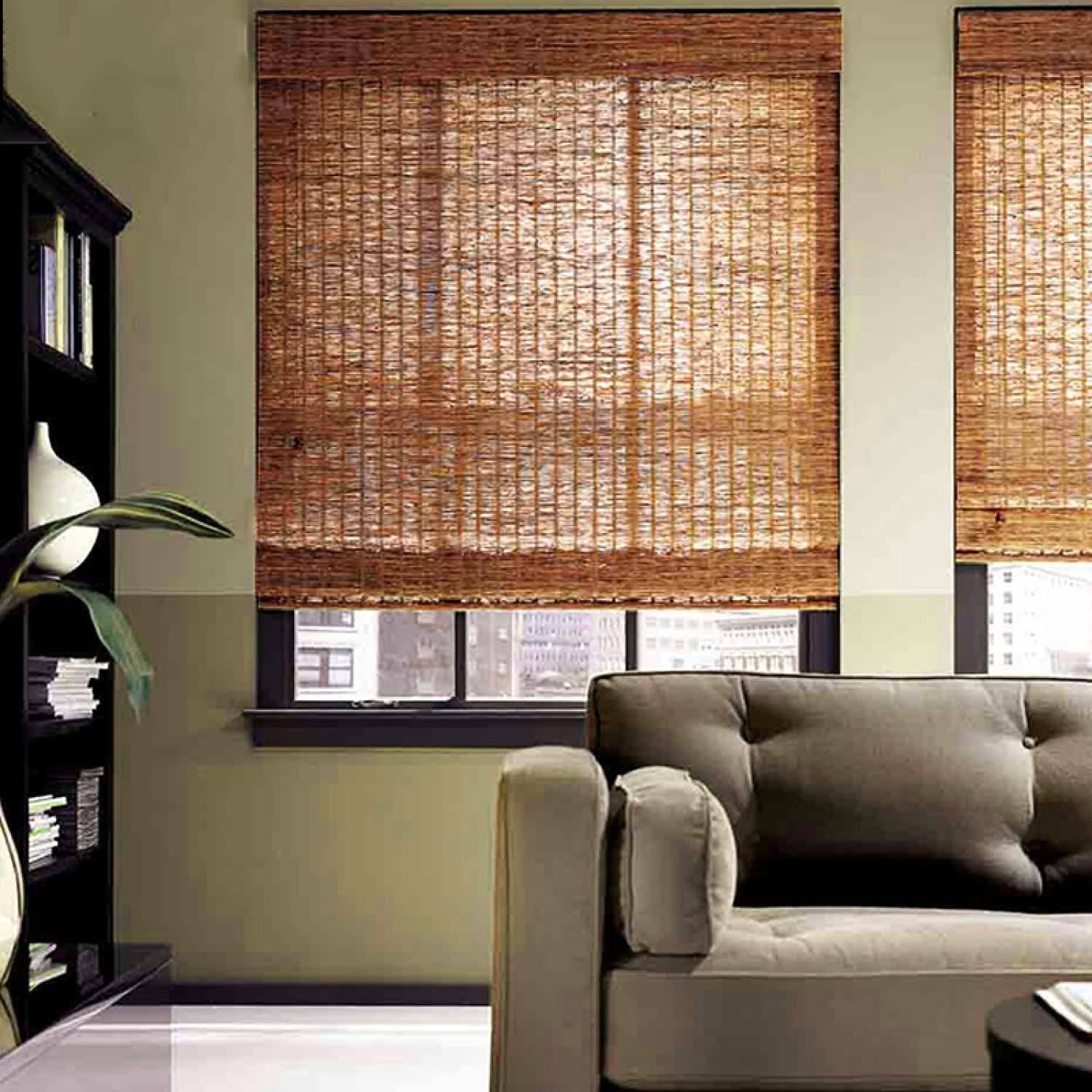 KDDFN Bamboo 内祝い Roller Blinds Outdoor 正規品 Curtain C Reed Natural