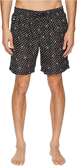 Mid Length Polka Dot Swimsuit Boxer w/ Bag