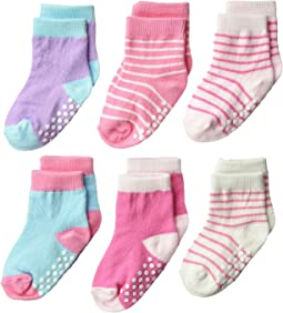 Jefferies Socks Non-Skid Crew 6-Pack (Infant/Toddler)