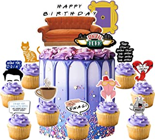 Decorations for Friends Tv Show Cake Topper Cupcake Toppers Birthday Party Supplies Decor