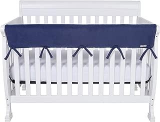 monogram crib rail cover