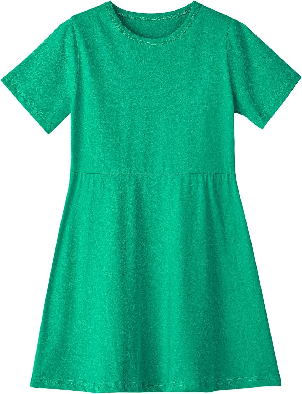 mart Niyage Toddler Girls Loose Cotton Dress Mail order cheap Short A-L Sleeve T-Shirt