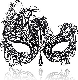 Sponsored Ad - FaceWood Masquerade Mask for Women Ultralight Metal Mask Shiny Metal Rhinestone Venetian Pretty Party Eveni...