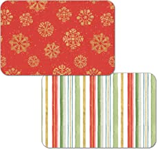 CounterArt Set of 4 Reversible Decofoam Placemats, Holiday Home
